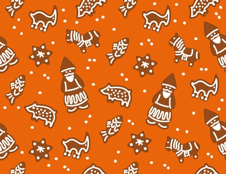 The seamless with Christmas cookies Vector