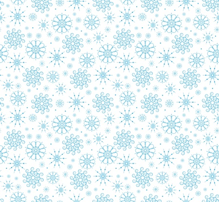 The seamless from a blue snowflakes Vector