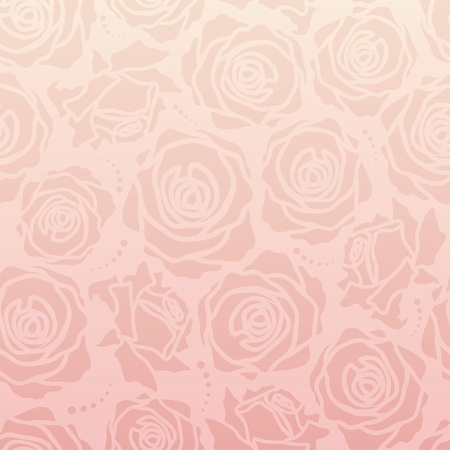The seamless of a  roses on pink background photo