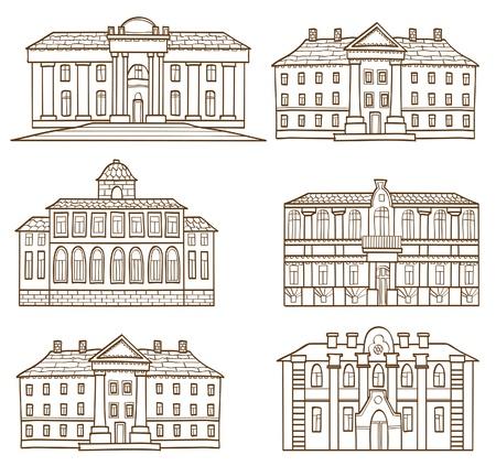 row of houses: El conjunto casas dibujo