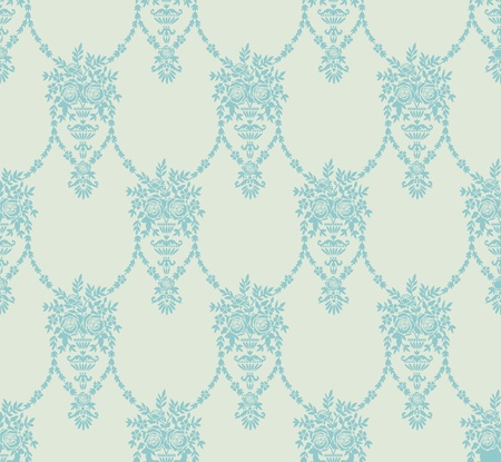 victorian scroll: The background with abstract floral elements