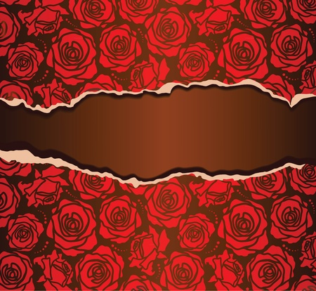 The background with rose torn paper Vector