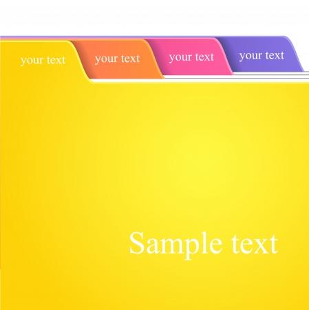 De kleur Folder Tabs collectie Vector Illustratie