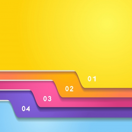 The color folder tabs collection Vector