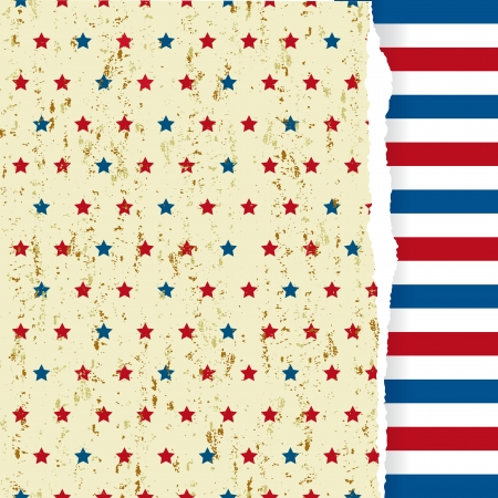 The yellow grunge  pattern with american symbol Vector