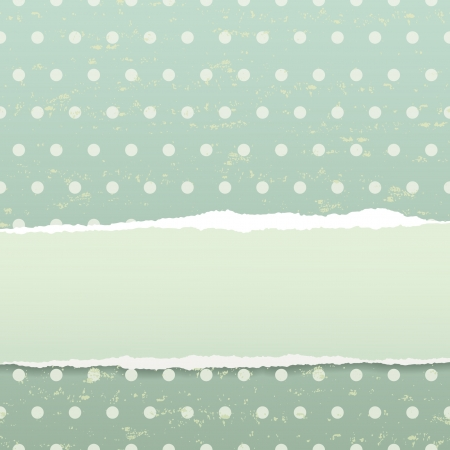 The retro background with torn paper  Stock Vector - 14007832
