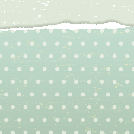 The retro grunge background with torn paper Vector