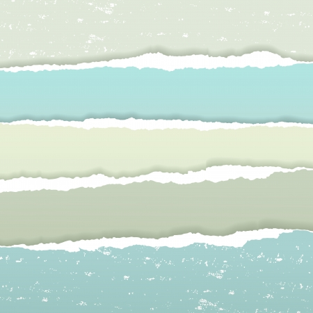 Torn paper borders with soft shadow Vector