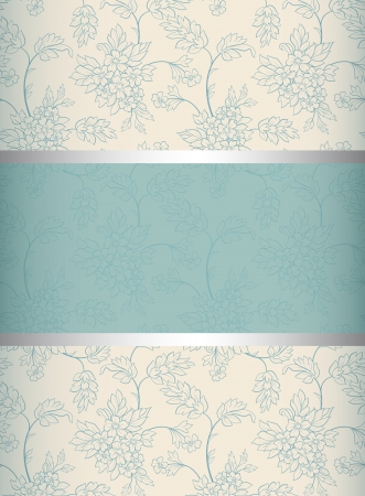 Floral  background  Invitation to the wedding or announcements Vector