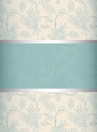bodas de plata: Invitación de fondo floral de la boda o anuncios