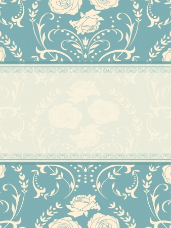 Ornate  background  Invitation to the wedding or announcements Vector