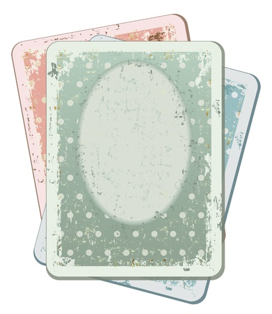The vintage card set for scrapbooking   Vector