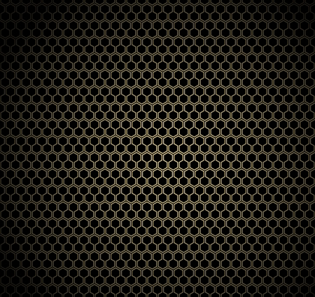 chain fence: Gold honeycomb on black background