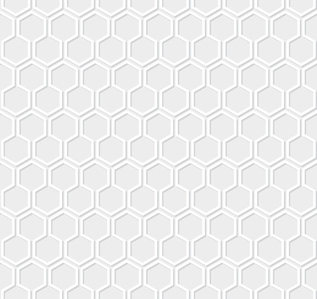 chain fence: White honeycomb pattern on gray background