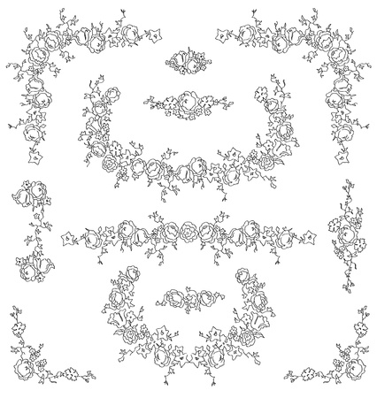gothic revival style: Calligraphic floral design elements and page decoration