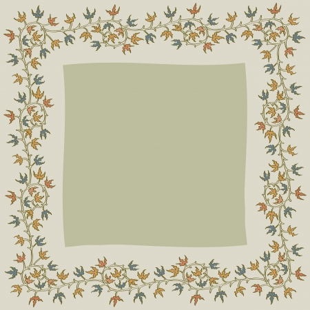 Christmas holly frame on gray background Stock Vector - 15505518