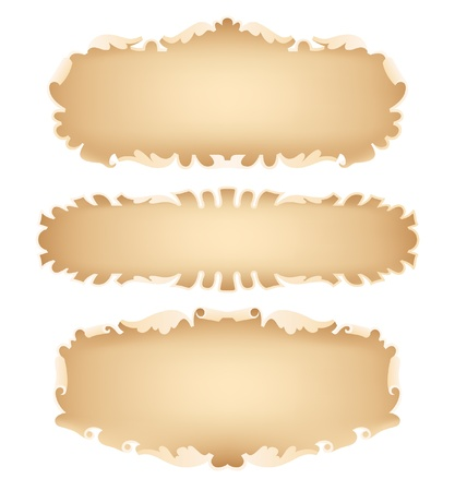 An illustration of old paper scroll Vector
