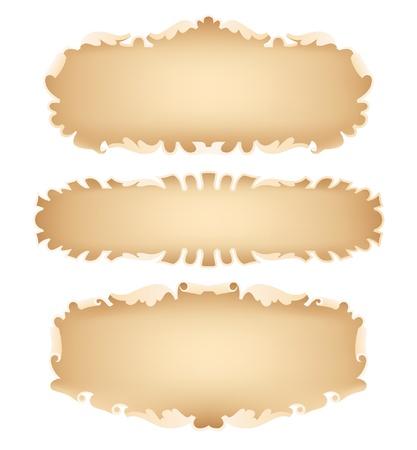 oud document: Een illustratie van oud papier scroll