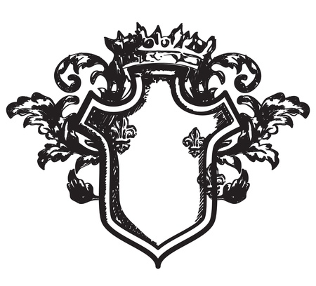 Drawing heraldic coat of arms Vector