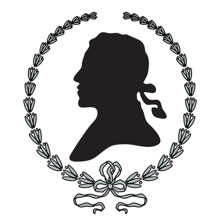 cameo: Black man silhouette with laurel wreath