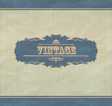 Retro background with vintage frame and place for you text Stock Vector - 15829908