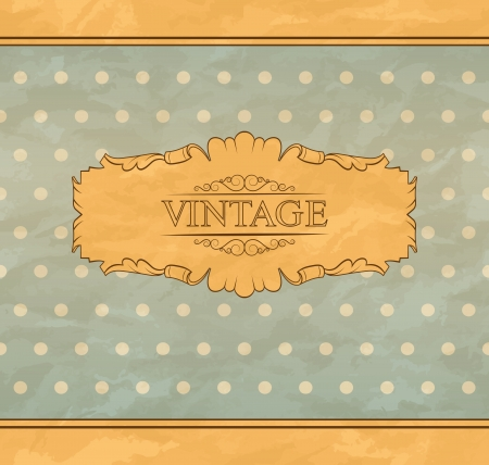 Retro background with vintage frame and place for you text  Stock Vector - 15829906