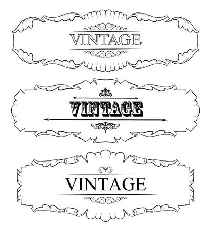 vintage border frame  Set Stock Vector - 15819315