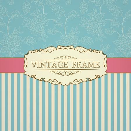 Retro background with frame vintage et place pour votre texte