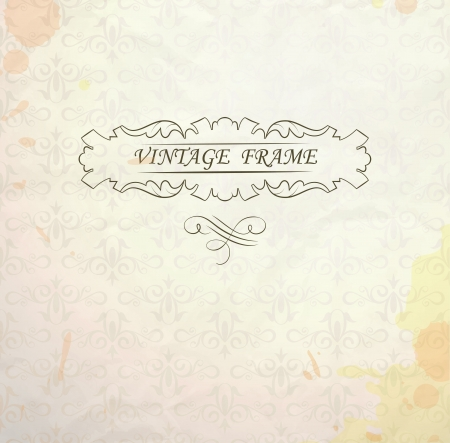 Light  background with vintage frame and place for your text  transparency used Stock Vector - 16028380