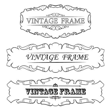 vintage border frame  Set Stock Vector - 16028357