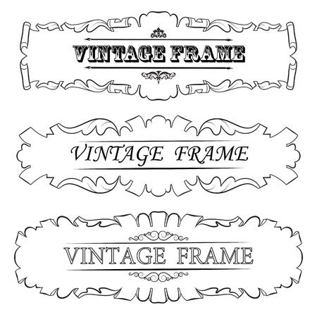 vintage border frame  Set Stock Vector - 16028355