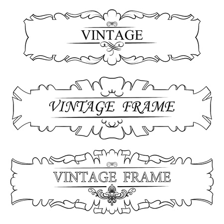 vintage border frame  Set Stock Vector - 16028347