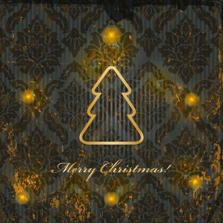 Christmas background with lights on dark pattern and grunge texture photo