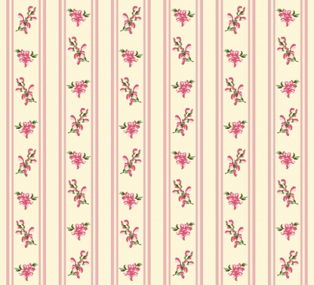 Striped retro rose seamless in village style Vector