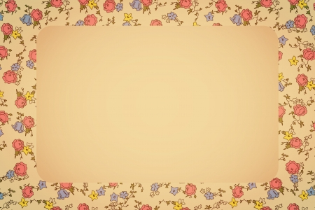 Retro card from floral background transparency and blend mode used Vector