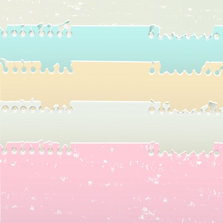 Set of notebook sheets with pastel colors Stock Vector - 18234834