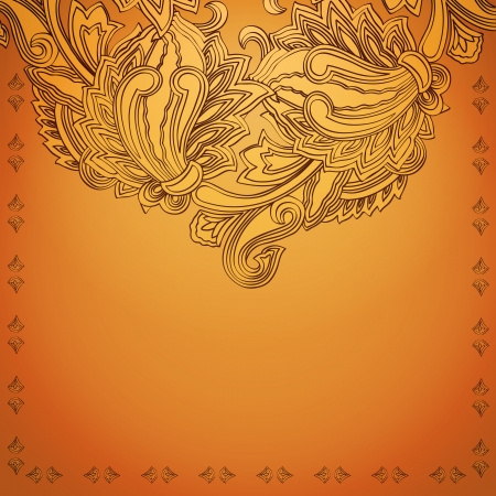 Vintage invitation card with ethnic ornament  EPS 10 transparency and blend mode used Vector