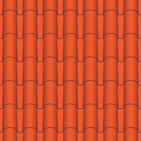 roof tile: Red roof tiles seamless  Vector texture Illustration