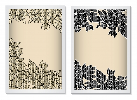 Invitation card back and front sides to the wedding or announcements  4x6   Vector