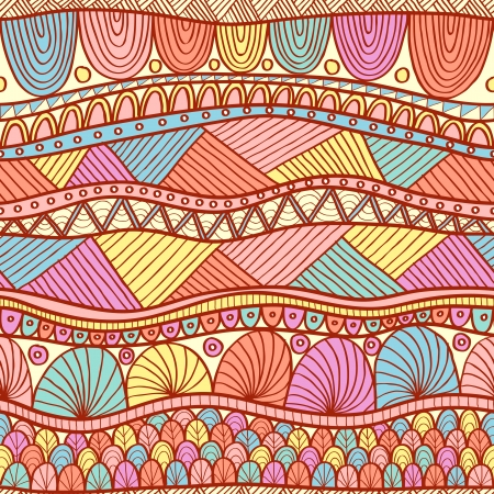 Bright ethnic seamless in indian henna style Vector