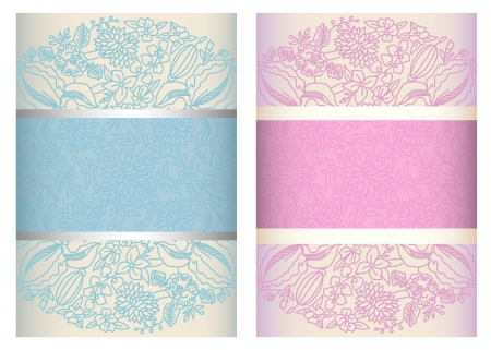 Invitation cards with lace to the wedding or announcements  4x6  ESP10 transparency used Stock Vector - 19096589