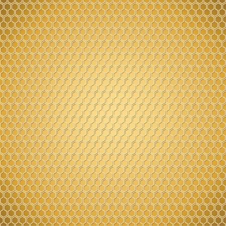 Bright honeycomb texture   golden background Vector