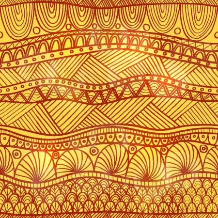Hand drawing striped seamless in indian henna style   transparency and blend mode used Stock Vector - 19096582