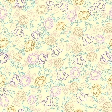 Cute flowers seamless Stock Vector - 19267162