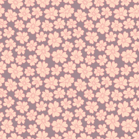 antique chic: Small flowers on yellow background in retro style