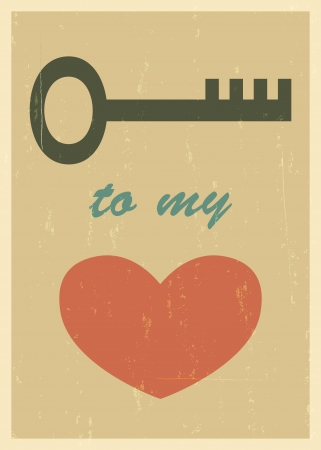 mid century: Mid century love poster. Retro card. blend mode used