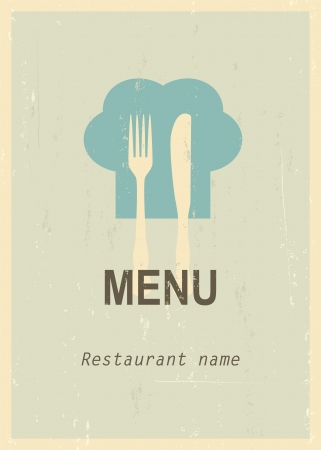 mid century: Mid century restaurant menu cover. Retro menu. EPS10 blend mode used