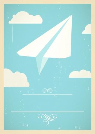 mid century: Paper plane concept