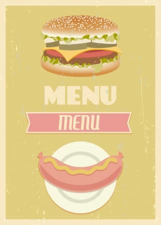 mid century: Mid century restaurant menu set.