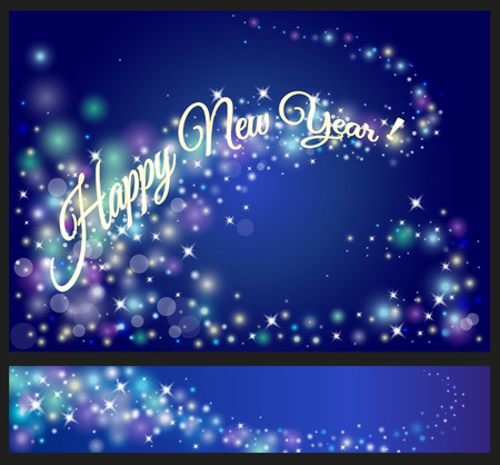 happy new year celebrations flyer banner poster or invitation with shiny text new